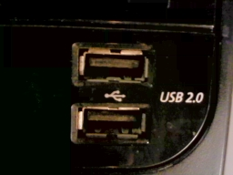 English: Snapshot of a Front USB port