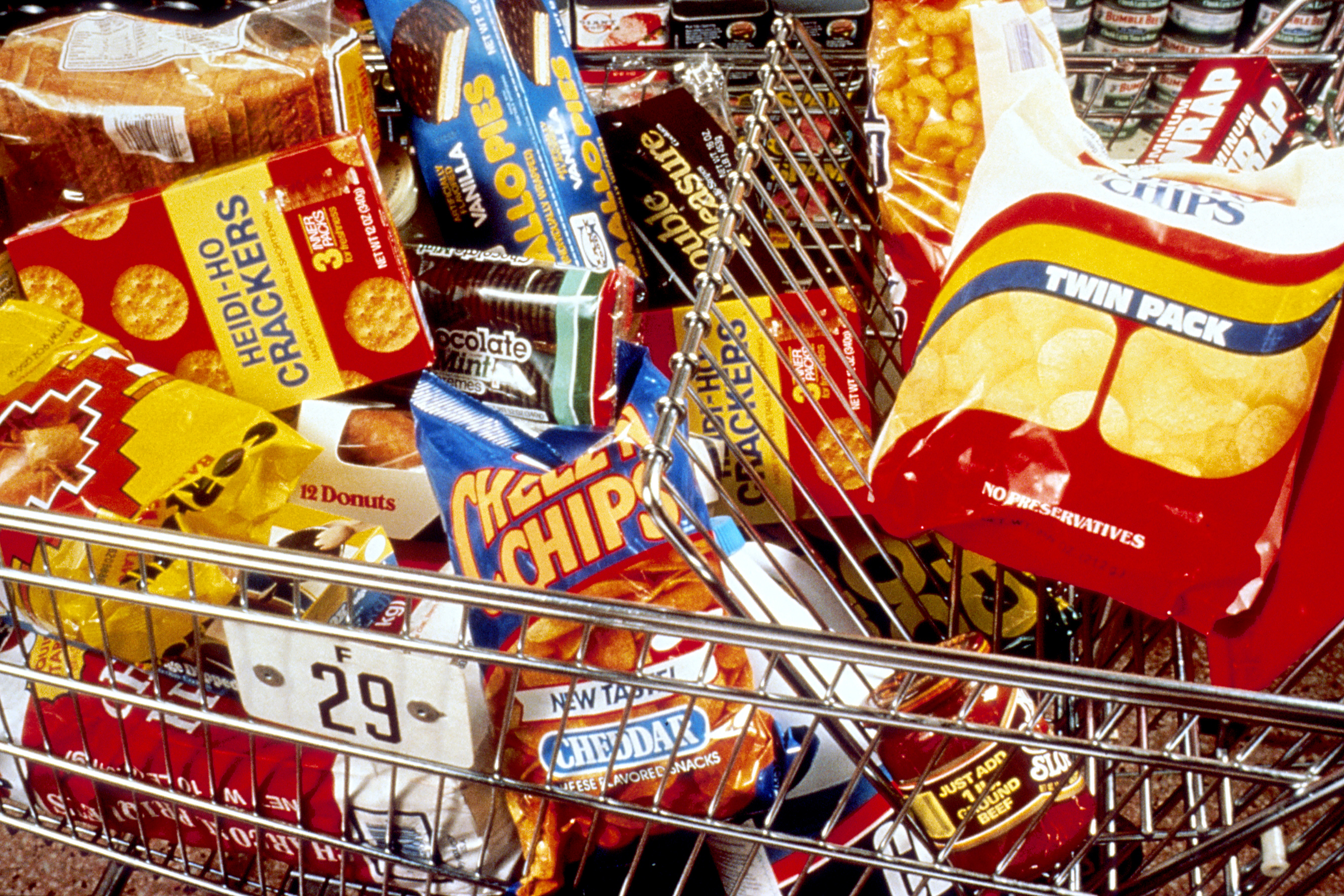 File Unhealthy Snacks In Cart