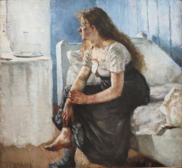 File 'morning' Edvard Munch 1884 Bergen Kunstmuseum
