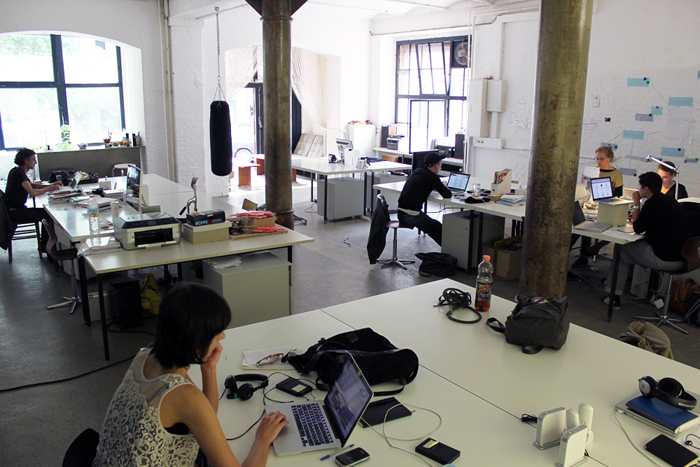 English: A coworking space in Berlin