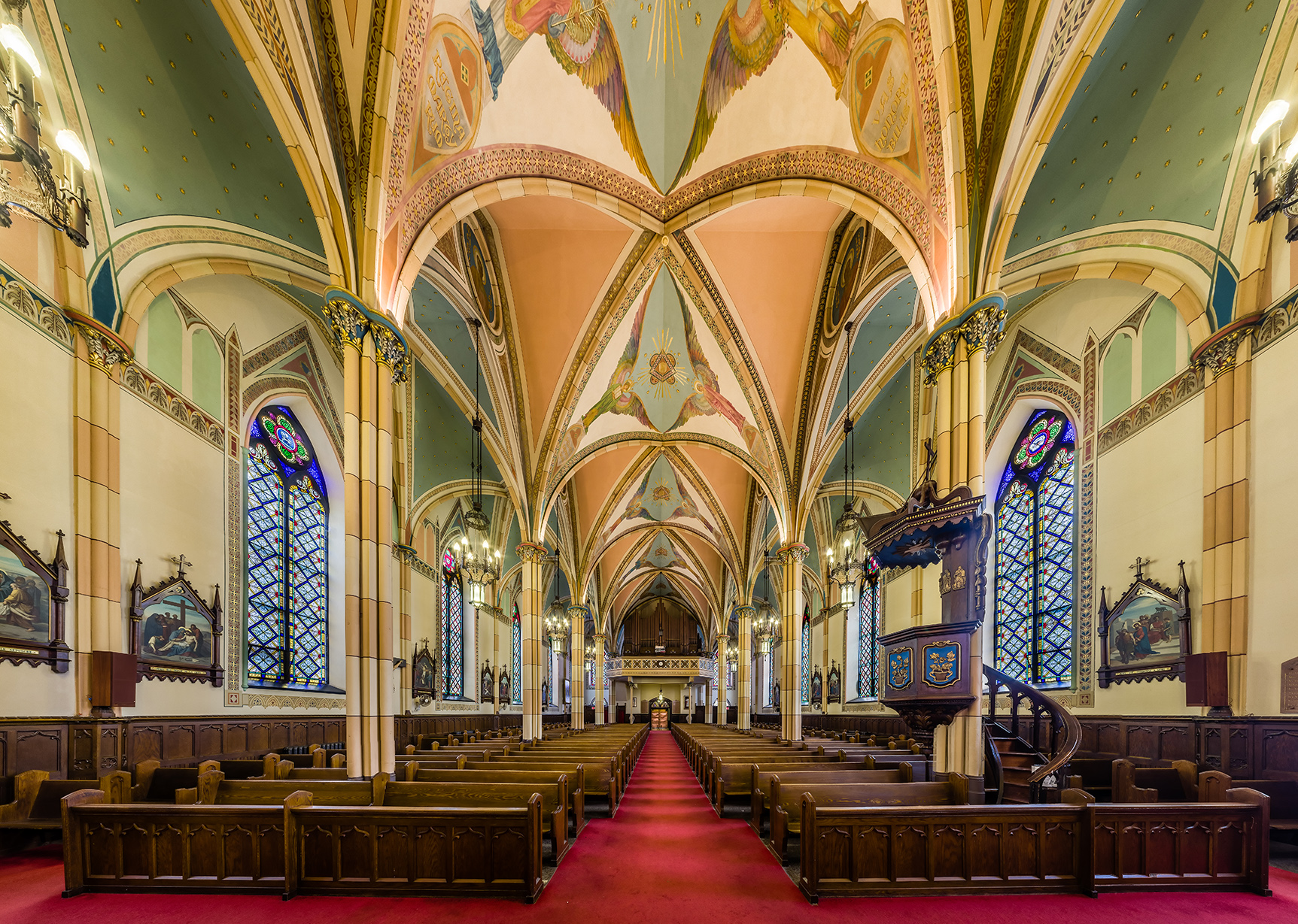 File Interior Of Assumption Church Windsor From Nave