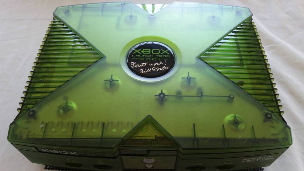 medium resolution of microsoft xbox 2001 launch team edition overhead view jpg