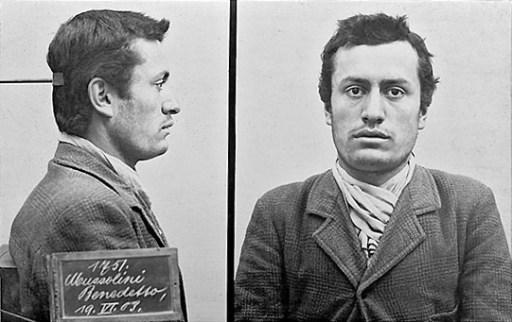 Benito Mussolini mugshot 1903