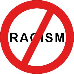 English: No racism Lietuvių: Ne rasizmui
