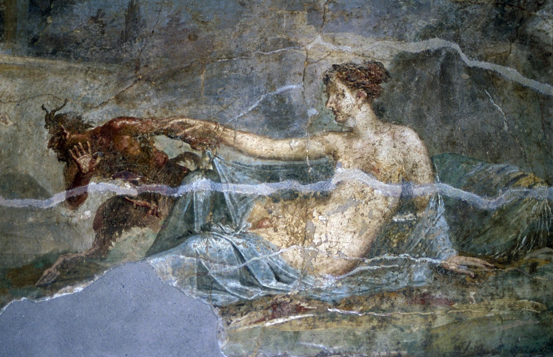FileRoman fresco of Pan and Hermaphroditus Pompeiijpg