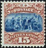 Columbus Landing 1869 Issue-15c