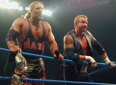 English: Diamond Dallas Page and Kevin Nash as...