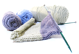 English: Knitting Needles and Needlepoint
