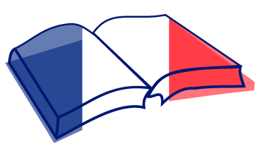 Book icon with the French flag.
