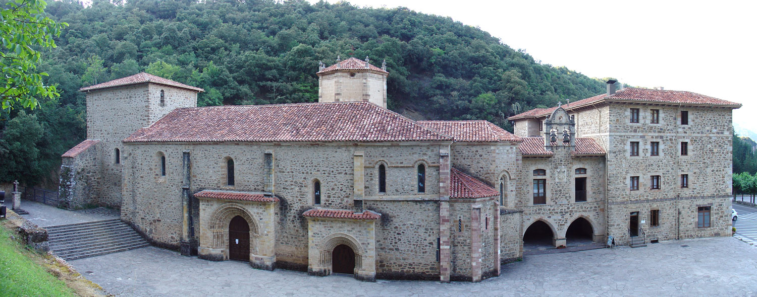 Panoramic view of Santo Toribio de Liébana, Cantabria, from Wikimedia Commons