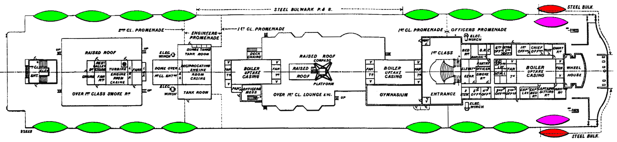 hight resolution of file titanic boat deck plan with lifeboats png