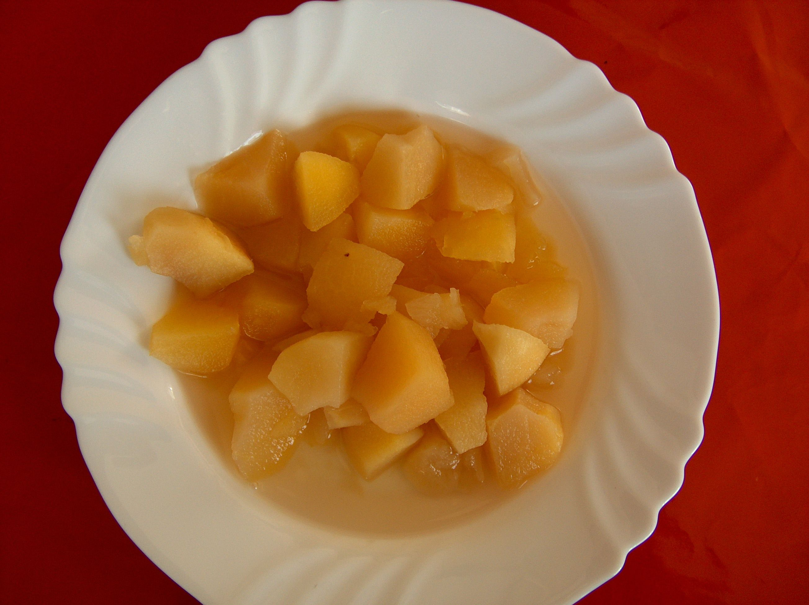 Use Applesauce in Brownies-Bowl filled with fruit