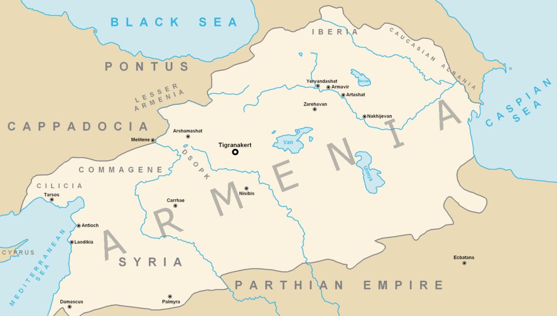 Massima espansione del Regno Armeno