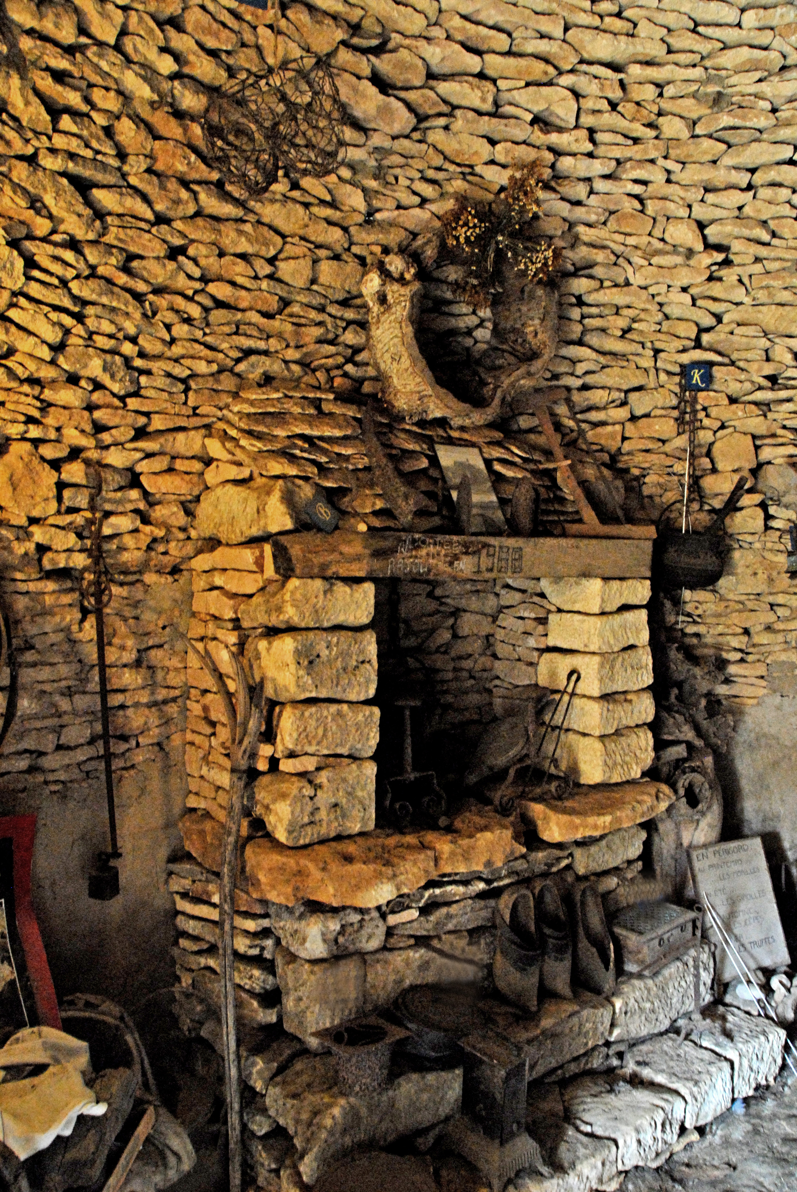 FileWorkshop with fireplace in dry stone cottage Francejpg  Wikimedia Commons
