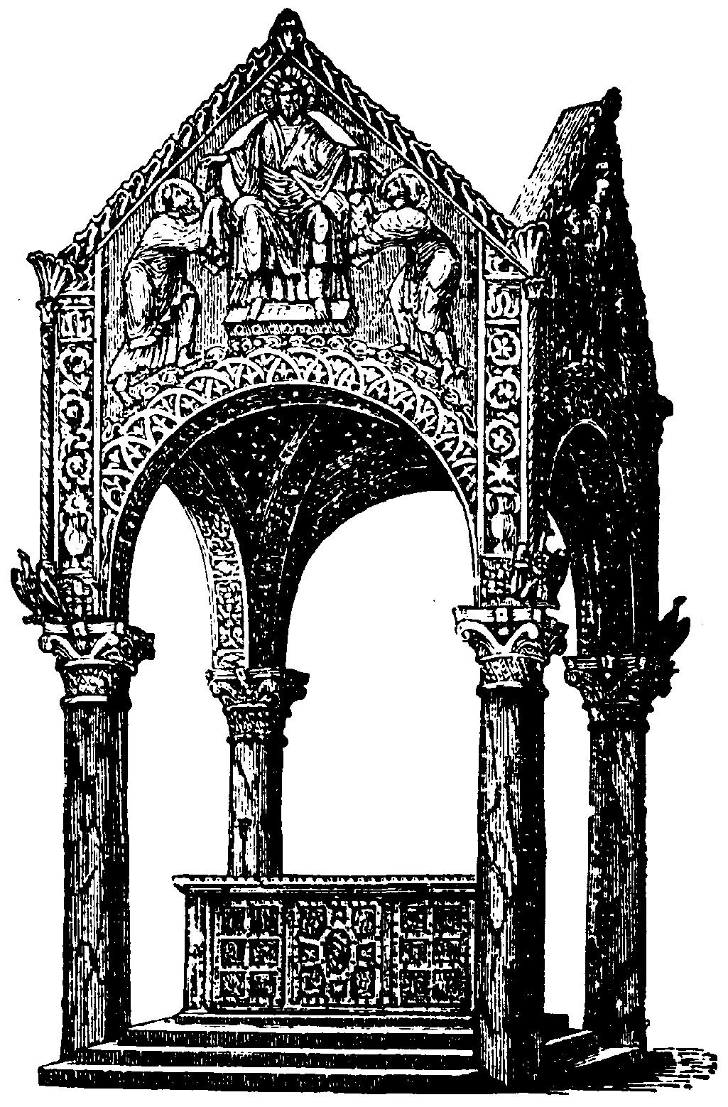 Ciborio arquitectura  Wikipedia la enciclopedia libre