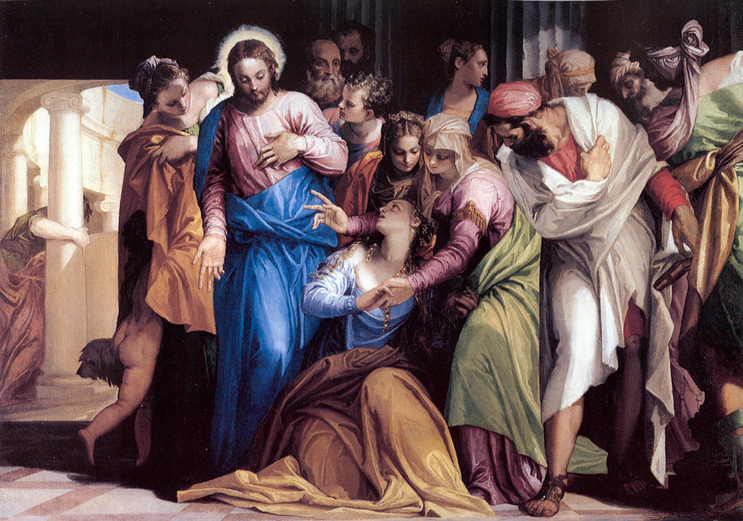 The Conversion of Mary Magdalene by Veronese, 1548 (Wikimedia Commons)
