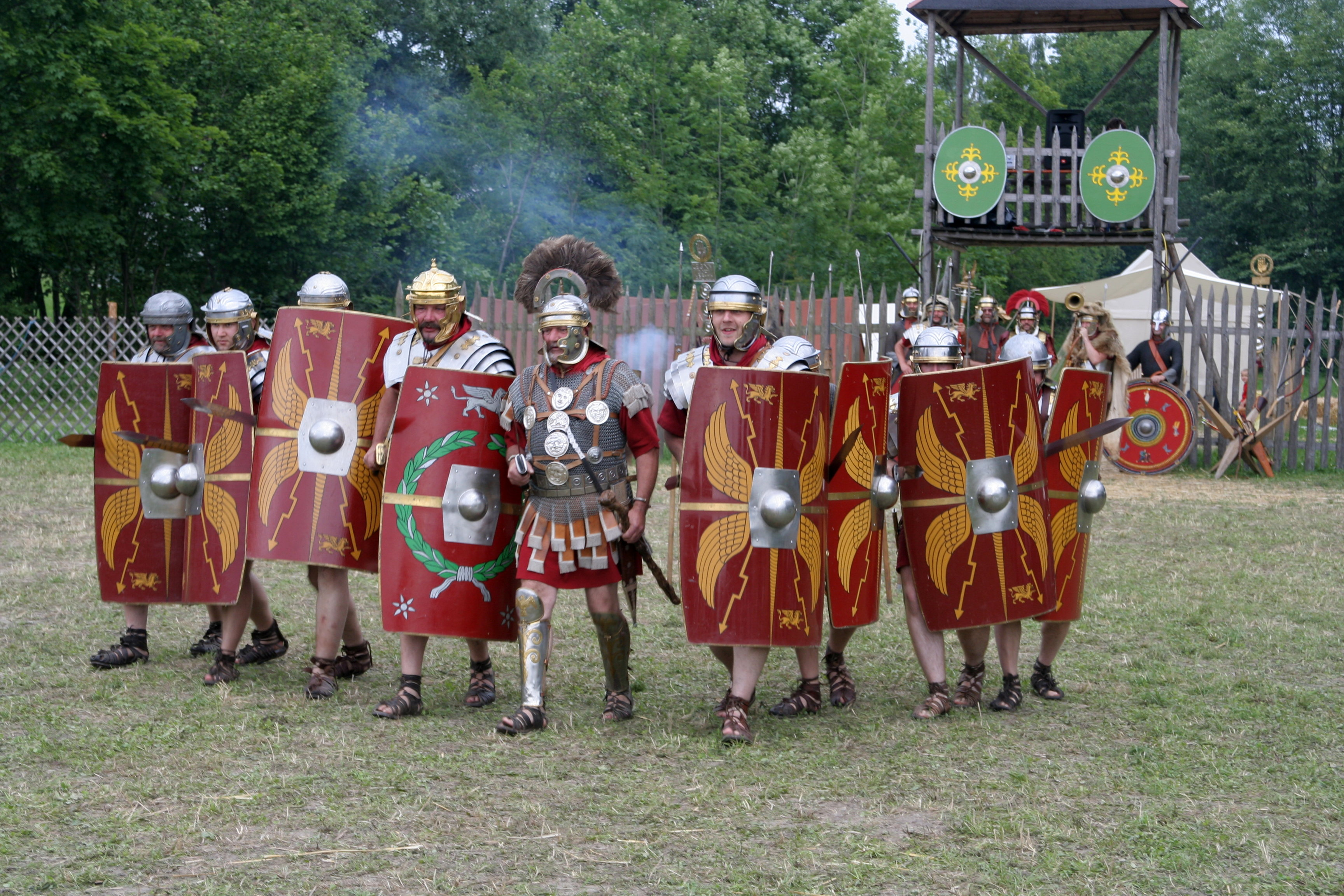 Roman soldiers about 70 AD at attack.