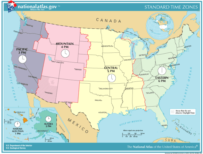 List of U.S. states and territories by time zone - Simple English ...
