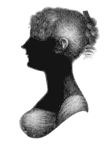 English: Silhouette of Cassandra Austen (1773-...