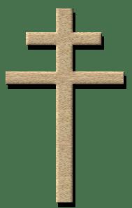 Lothringer Kreuz (croix de Lorraine), Symbol der Résistance intérieure française, von Sebcaen, Lizenz: Creative Commons Attribution ShareAlike 2.5/CC by SA