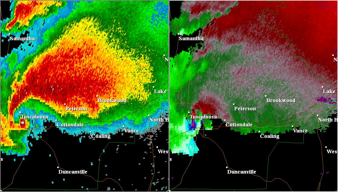 Fileradar Image Of The  Tuscaloosa Tornado April