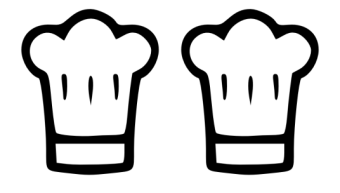 Two chef' hats