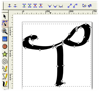 Inkscape Path Drawing Tools Wikibooks Open Books For An