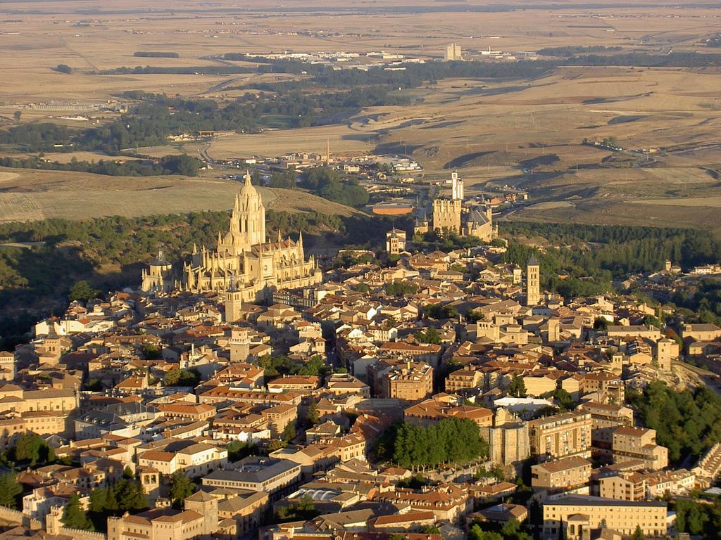 Vista aérea de la ciudad de Segovia