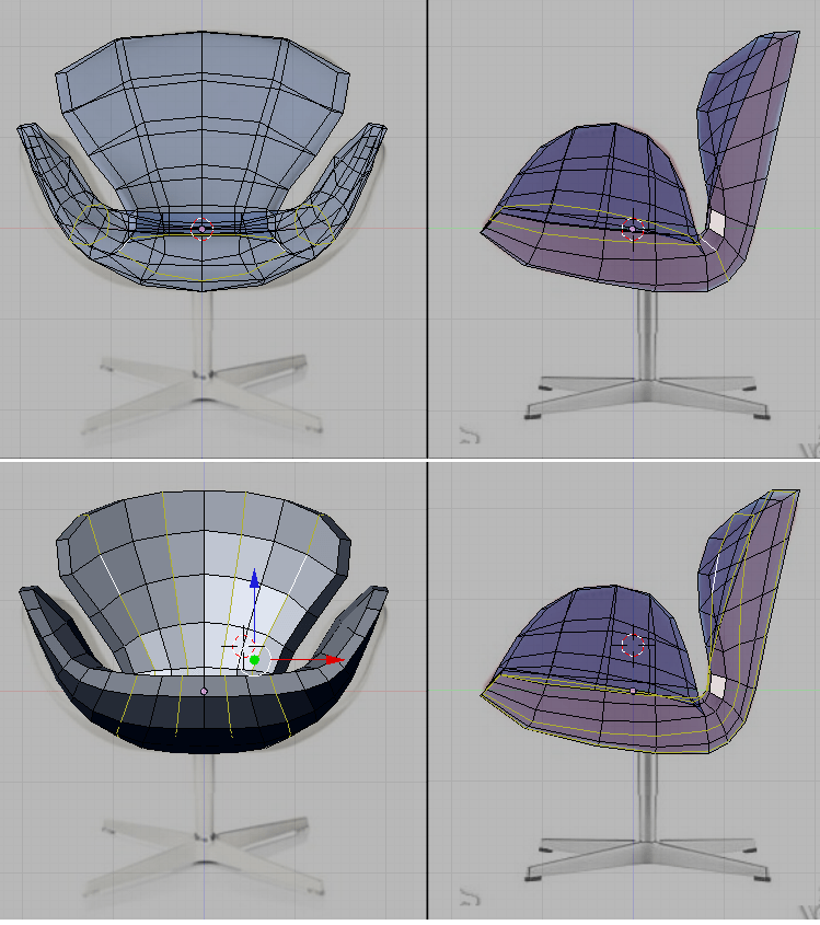 Blender 3D Noob to ProModel a ChairThe Seat  Wikibooks