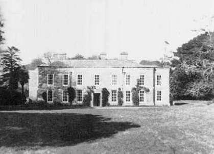 Menabilly House, Cornwell um 1920. Das Anwesen diente als Vorlage für Manderley.