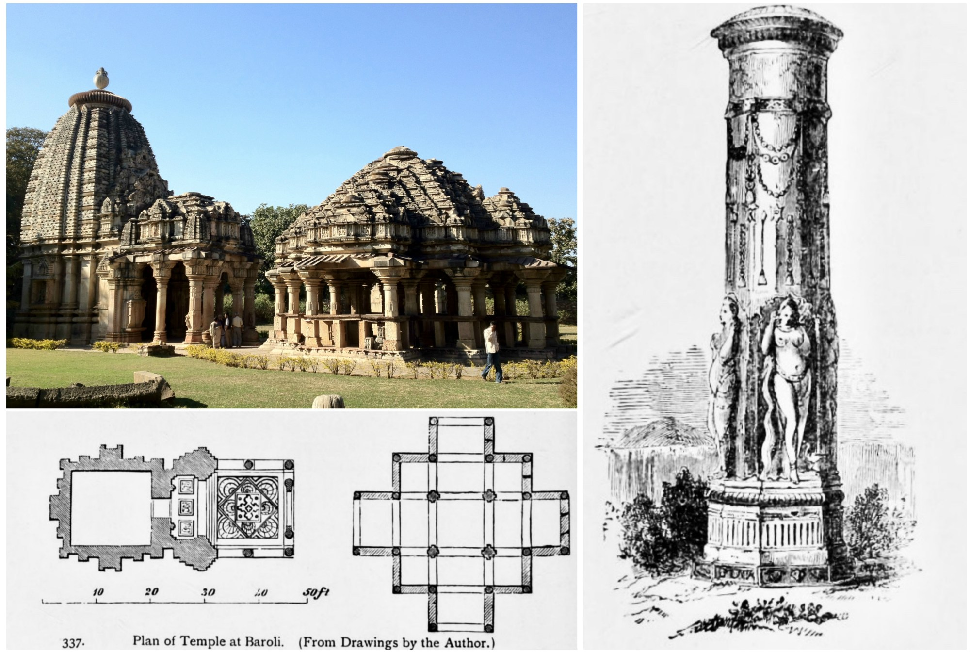 hight resolution of the early 10th century baroli temple complex in rajasthan illustrating the nagara architecture