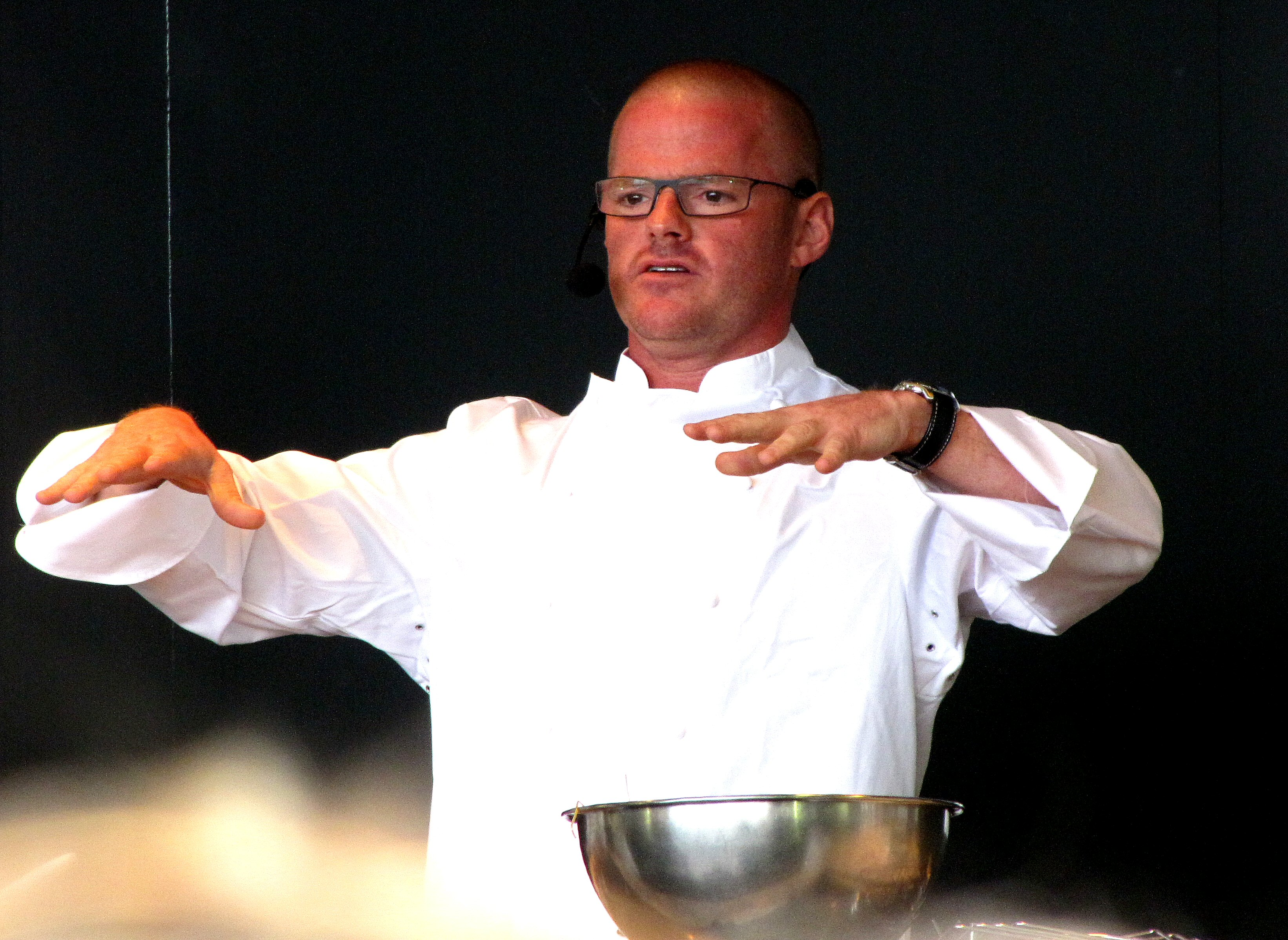 English: Heston Blumenthal at Taste Of London ...
