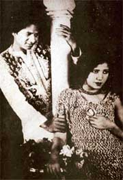 Master Vithal and Zubeida in Alam Ara, 1931.