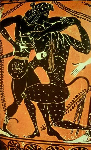 Teseo contra el Minotauro