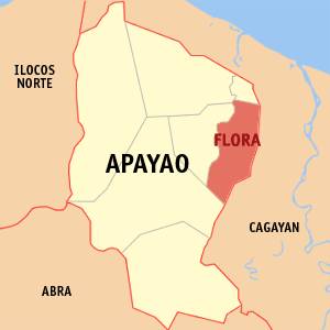Map of Apayao showing the location of Flora