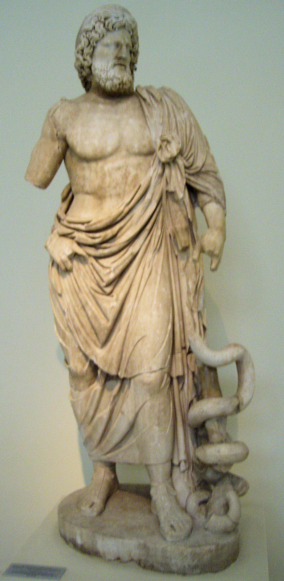 Asclepius statue