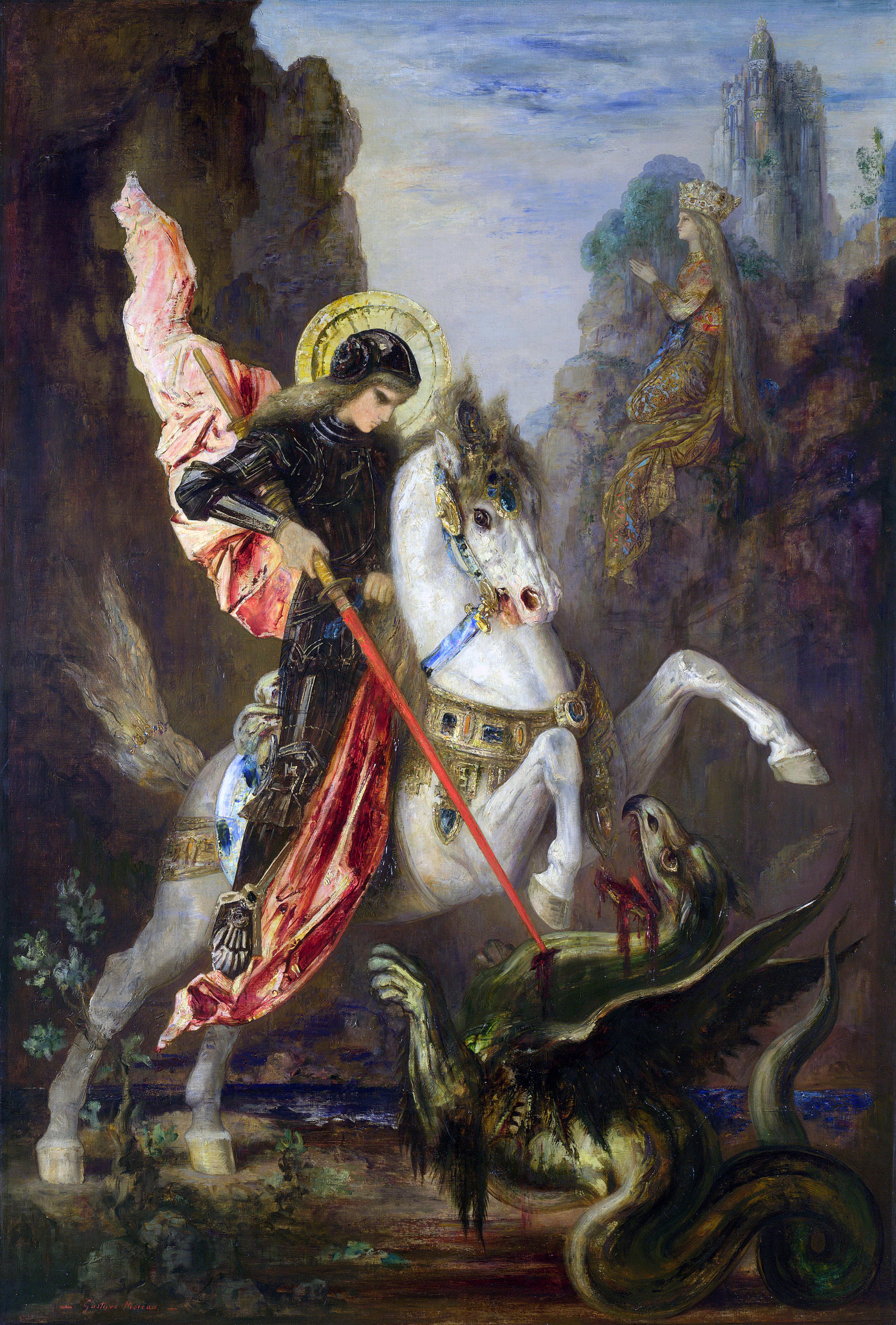 São Jorge e o Dragão, de Gustave Moreau.