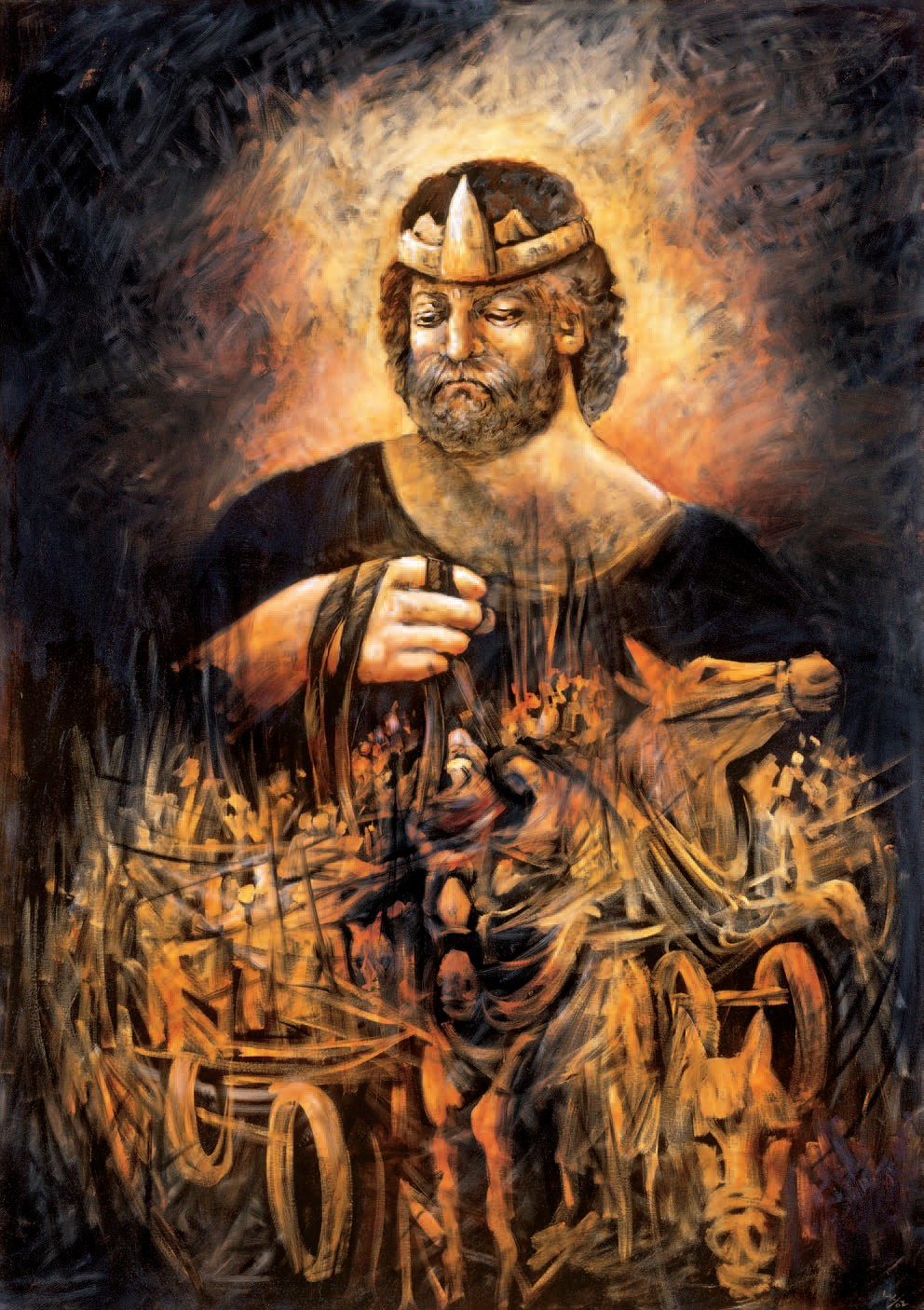 Painting Of The King Saul