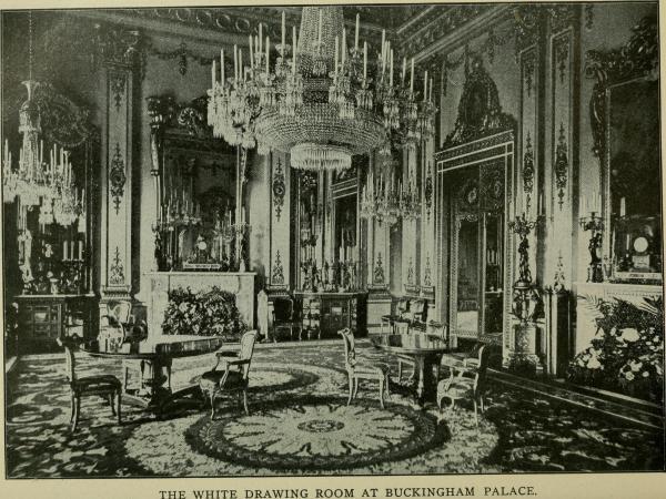File White Drawing Room Buckingham Palace . 1901