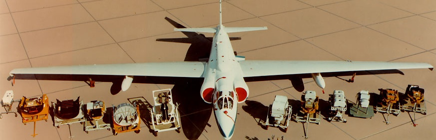 Photo of a U-2 with a variety of mission payloads.