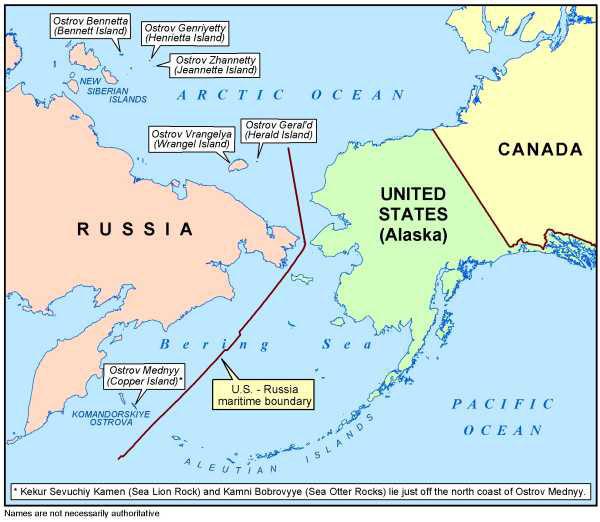 Regional Map of Bering Strait US