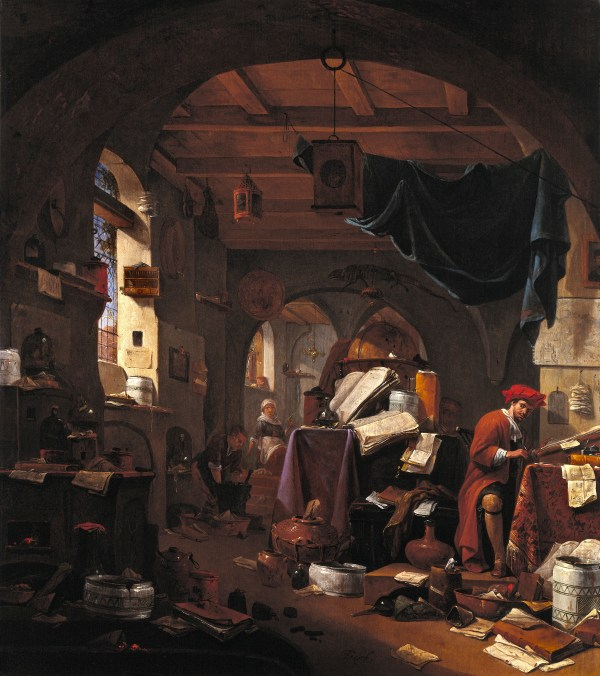 File Interior With Alchemist. Oil Painting Thomas