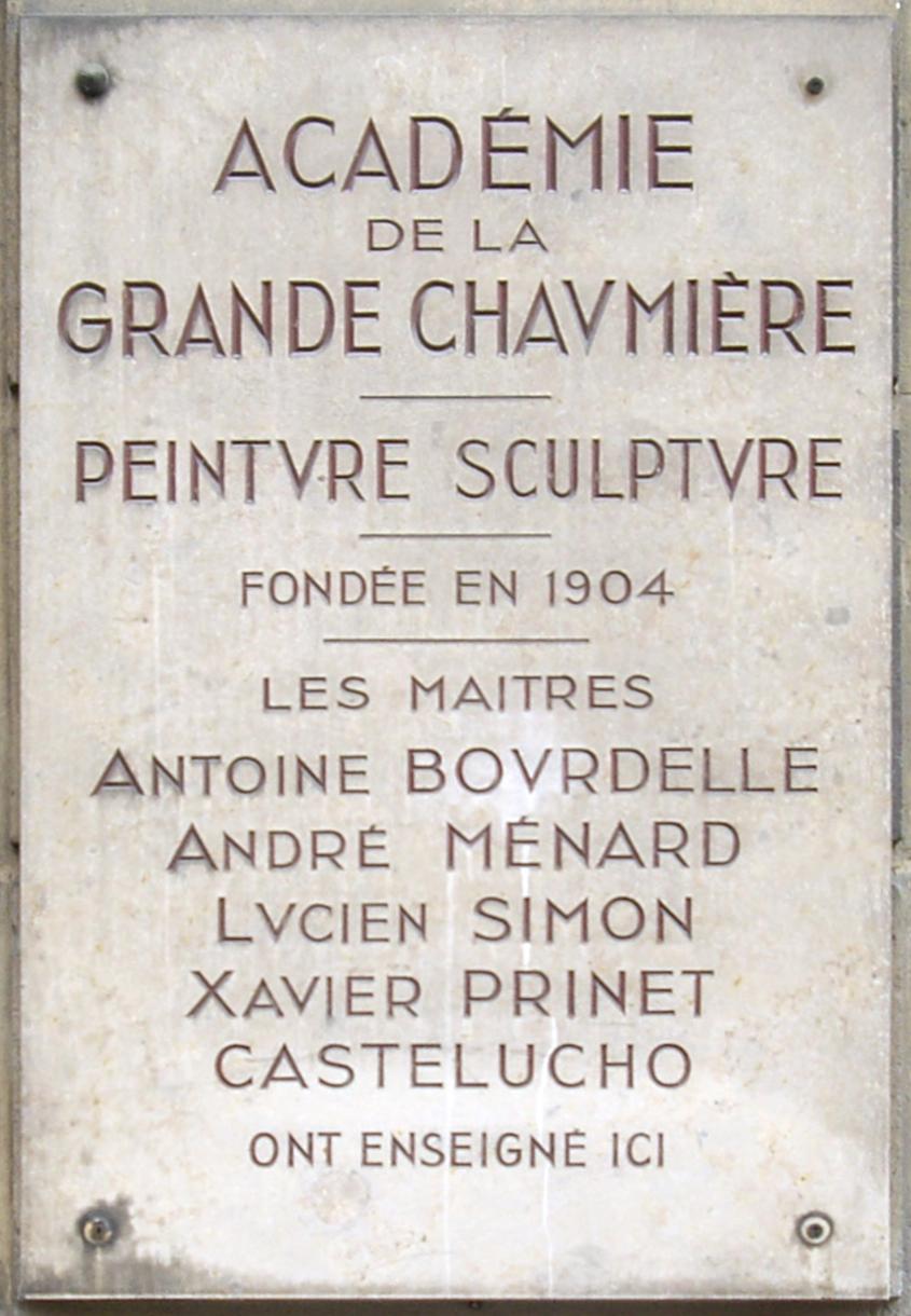 Académie De La Grande Chaumière Wikipedia