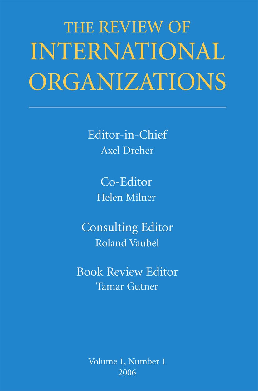 Review of International Organizations  Wikipedia