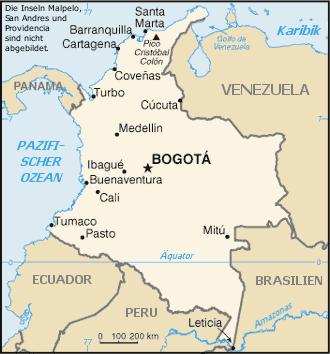 Kolumbien Reisef252hrer auf Wikivoyage
