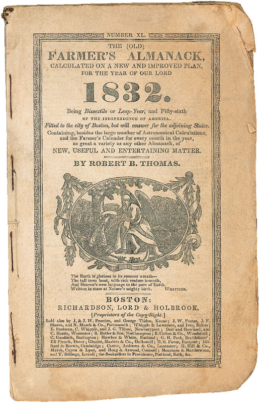 Cover of the Old Farmer's Almanac.