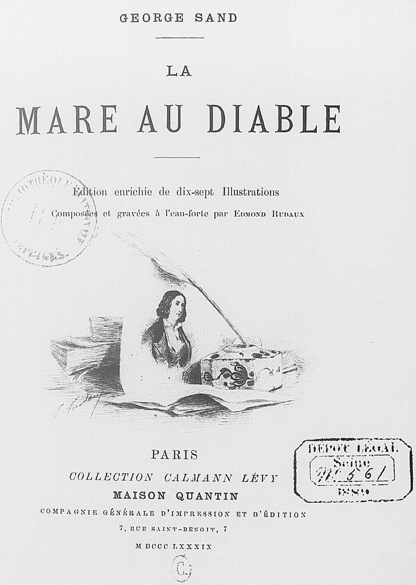 La Mare Au Diable George Sand : diable, george, File:Sand, Diable, Illustration02.jpg, Wikimedia, Commons