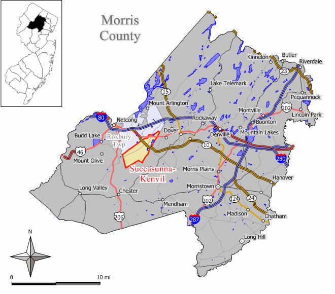 Roxbury Township Nj Map