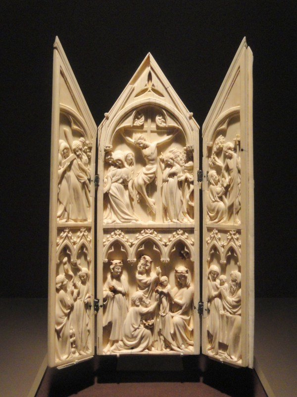 File Triptych With Scenes Life Of Christ 1350