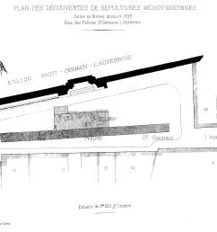 file cmvp 1898 3 p35 plan st germain auxerrois s pultures m rovingiennes jpg [ 4367 x 2898 Pixel ]